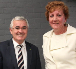 Andrew Wilkie MHR and Barbara Etter at the Canberra screening.
