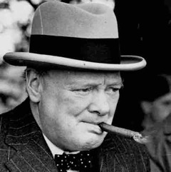 Winston Churchill, PM of Britain during World War Two, was a noted smoker indoors and out.