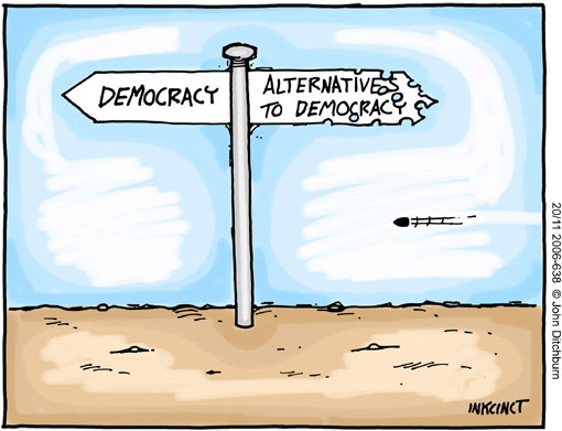 Ditchburn on the democracy dilemna