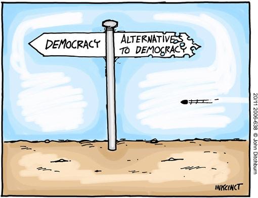 Ditchburn on the democracy dilemna
