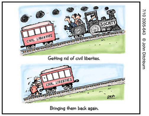 Loosing liberties