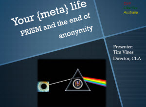 Your {meta} life - PRISM and the end of anonymity