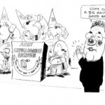 Cartoon: Moir comment on Downer/ASIO around the time of East Timor negotiations.