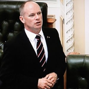 Queensland Premier Campbell Newman speaking in parliament – ABC TV
