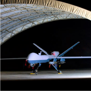 A US Reaper drone.