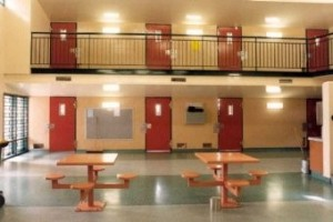 Empty Woodford prison facilities.