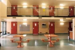 Empty Woodford prison facilities.
