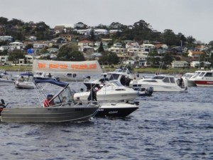 Tinnies and other small boats protesting the supertrawler: Tasmanian Times