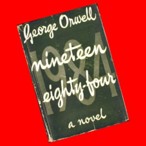 1984 book first edition cover logoist