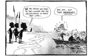 Cartoon by Bill Leak explains how it might have been.