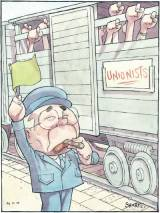 Sharpre cartoon - Unions
